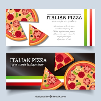 Banners de pizza italiana