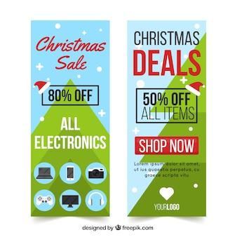 Banners de venda do Feliz Natal