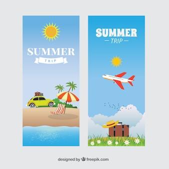 Banners de viagem de verão