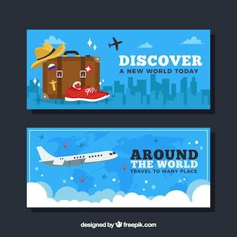 Banners de viagens ao redor do mundo