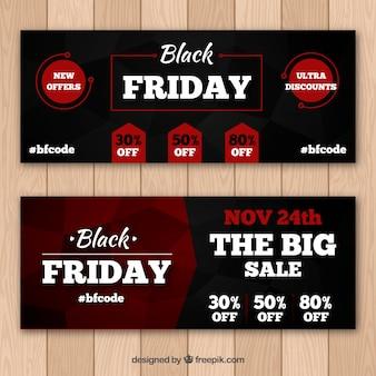 Banners elegantes de sexta feira negra