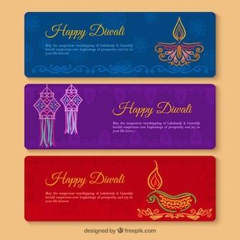 Banners feliz de Diwali