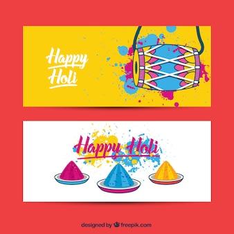 Banners Holi feliz