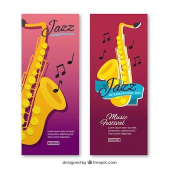 Banners Jazz saxofone