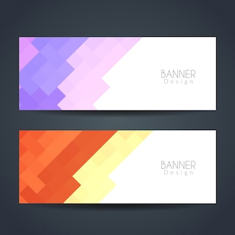 Banners modernos coloridos