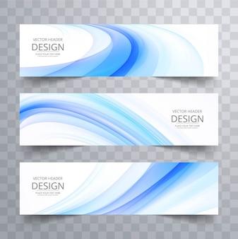 Banners onda azul