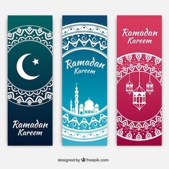 Banners Ramadan Kareem Ornamental