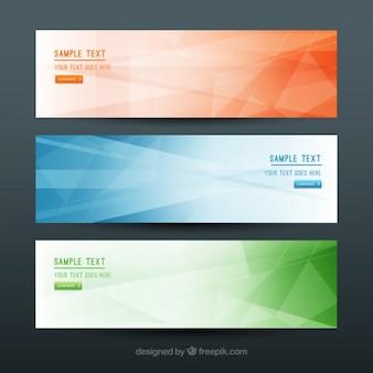 banners simples e geométricas em cores