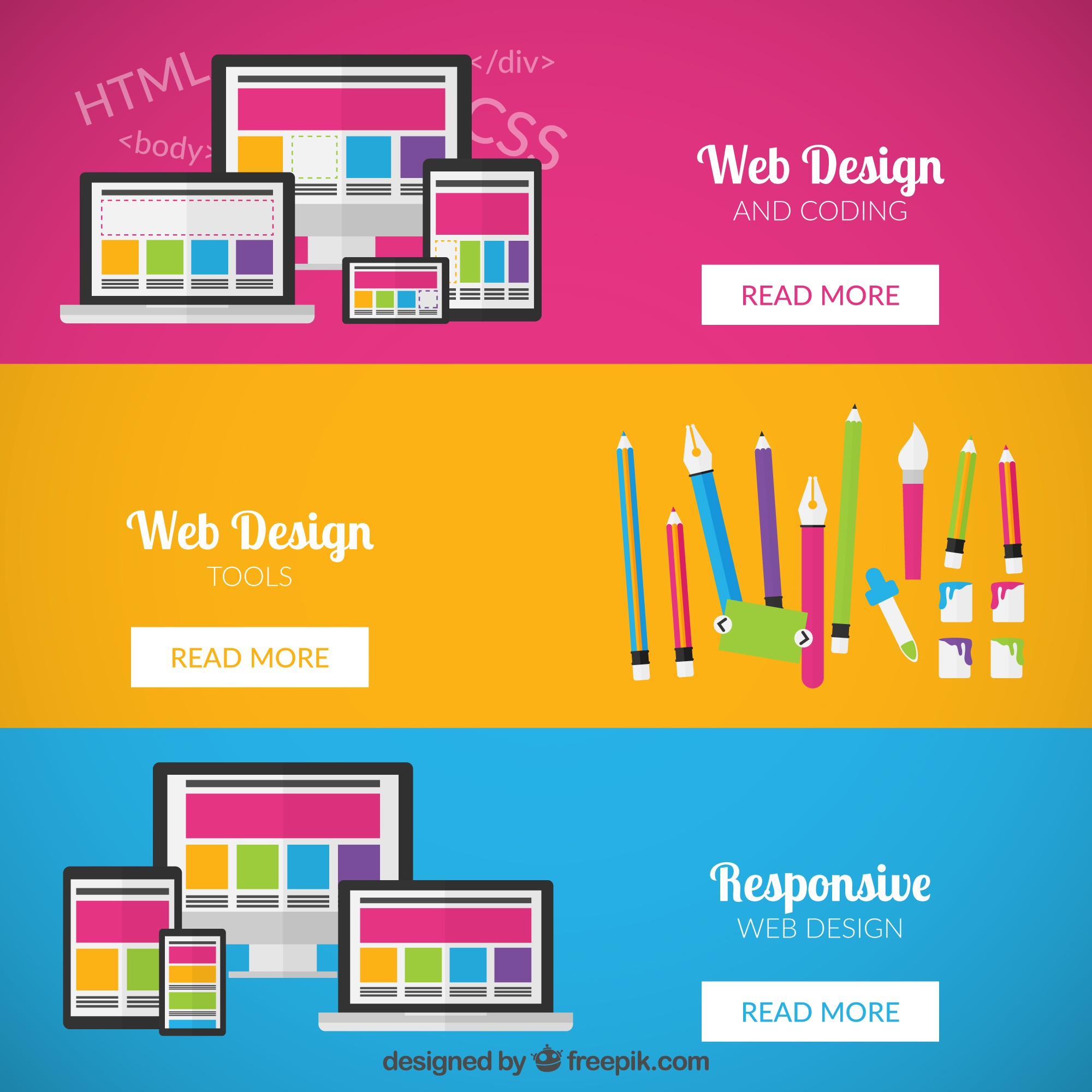 Banners web design
