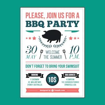 Barbecue cartaz piquenique