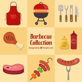 Barbecue coleção plana