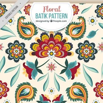 Batik teste padrão floral