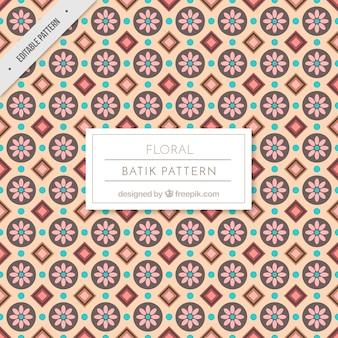 Batik Vintage teste padrão floral