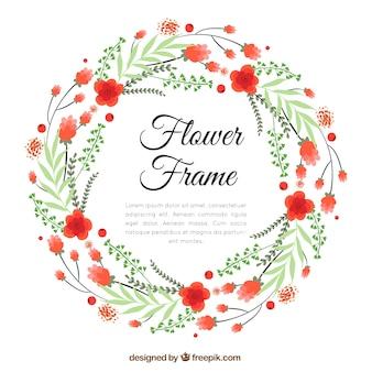 Beautifu lfloral frame background