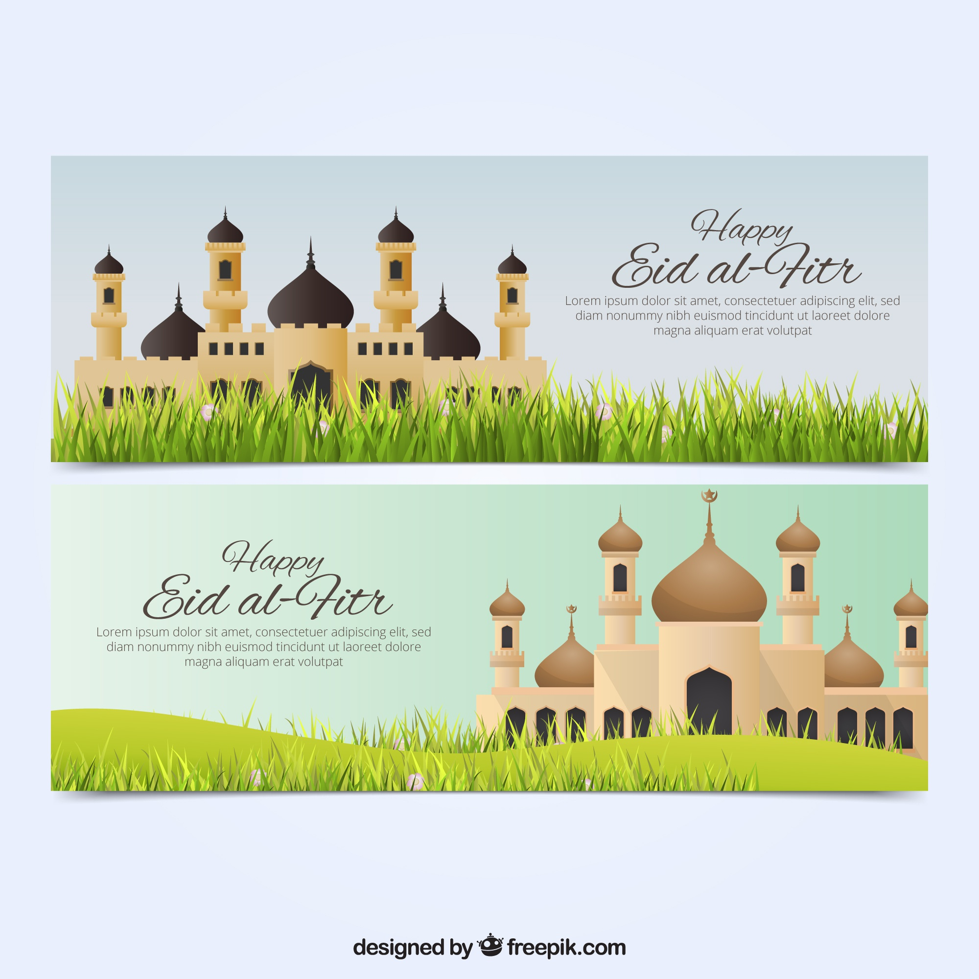 Beautiful eid al fitr banner