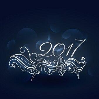 Bela 2015 novo design ano, com decoração floral
