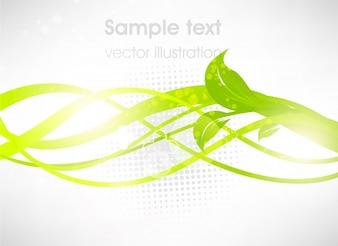 Beleza modelo pano de fundo elemento verde