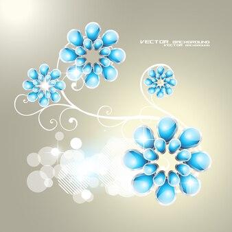 Belo flor forma ilustração vetorial fundo