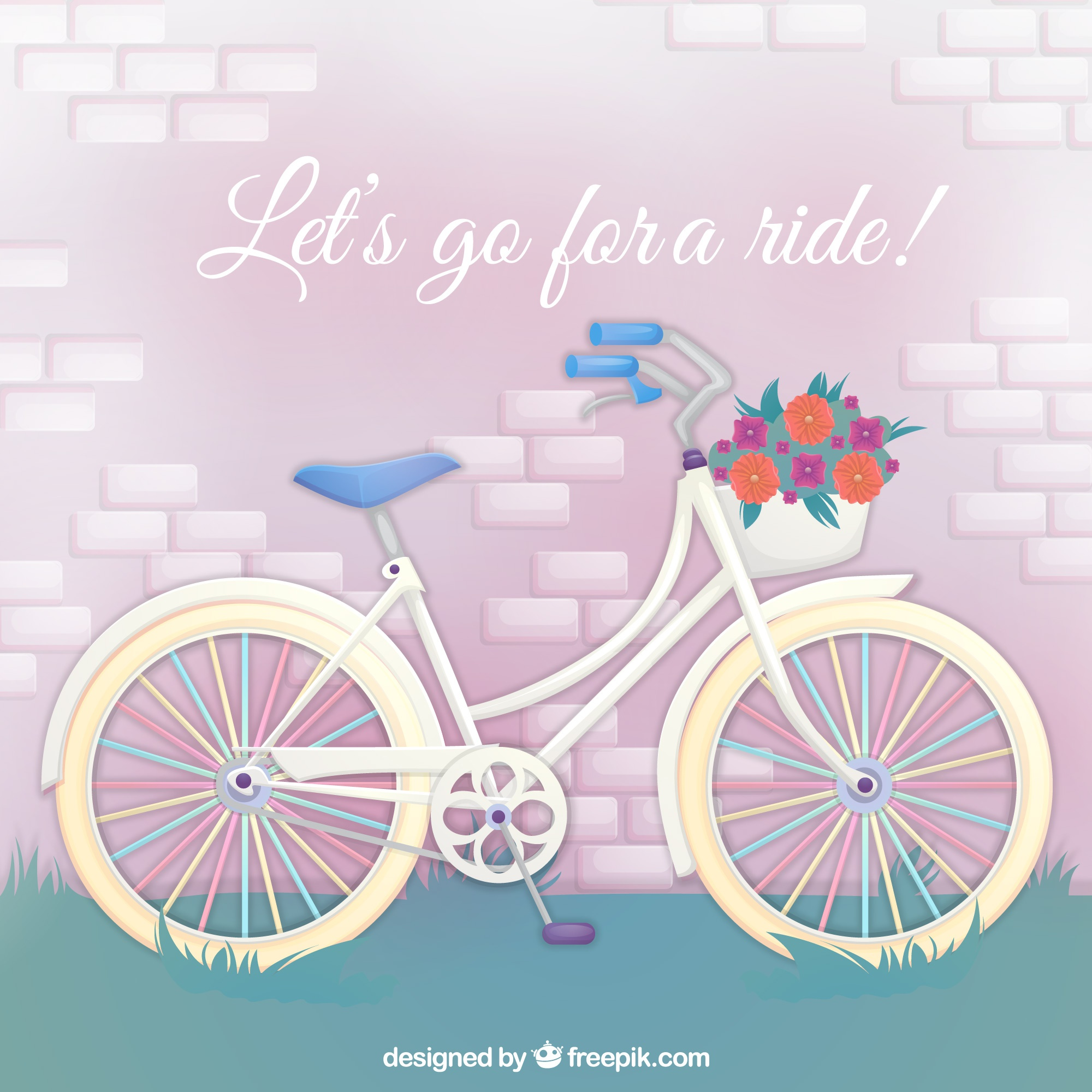 Bike background with quote