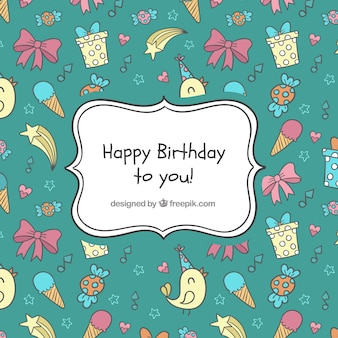 Bithday pattern background