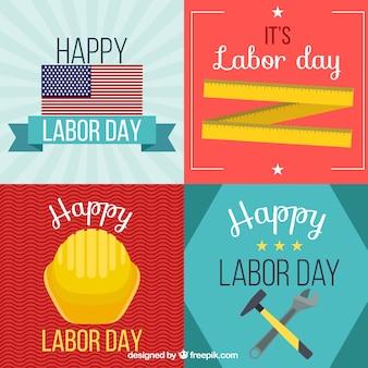 Bloco de cartões de Dia do Trabalho