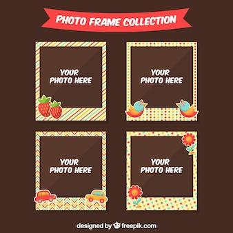 Bloco Photo Frame com elementos decorativos