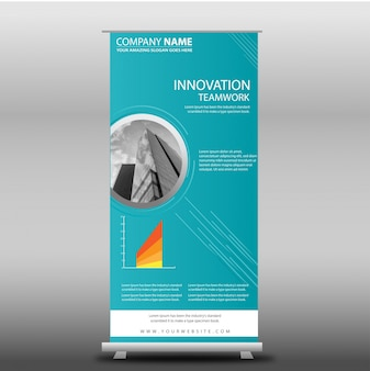 Blue Business Roll Up Template