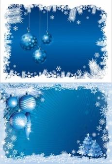 Blue Christmas bola de fundo