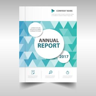 Blue creative annual report book cover template