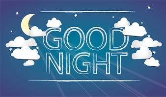 Boa noite azul bakcground
