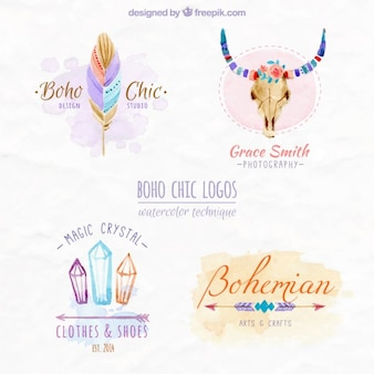 Boho projeto logos chiques