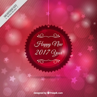 Bokeh estrelas de fundo de ano novo
