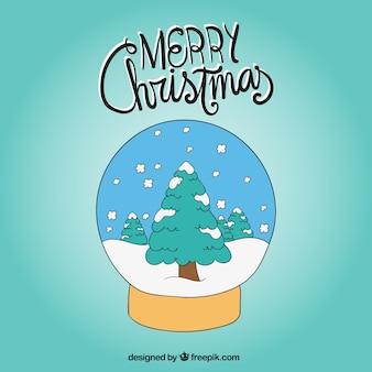 Bola de neve decorativo