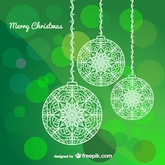 Bolas da árvore de Natal
