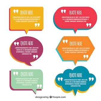 Bolhas de discurso em design plano para frases