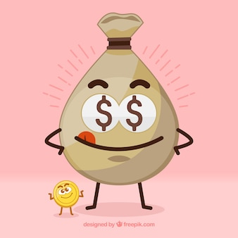 Bom fundo de bolsa com moeda