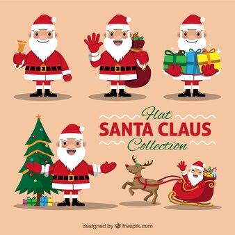 Bom pacote de Papai Noel com objetos