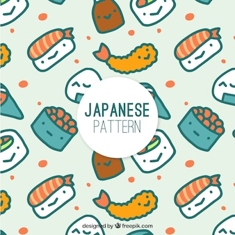 Bom padrão de caracteres de sushi