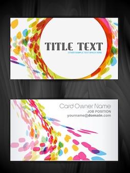 Bonito design de cartão de visita criativo