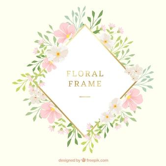 Bonito quadro floral com estilo moderno