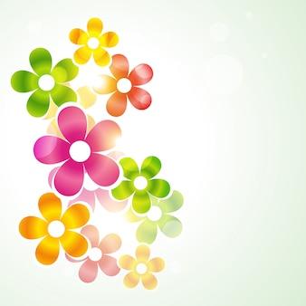 Bonito vetor colorido flor ilustração