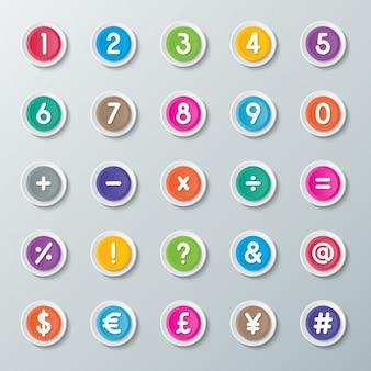 Botões da calculadora