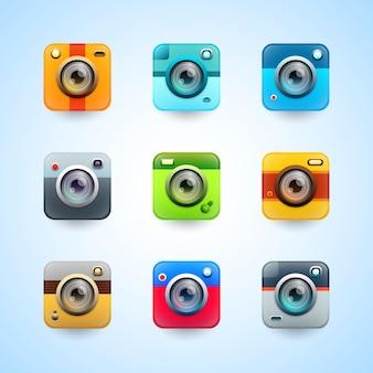 Botões de aplicativo da câmera