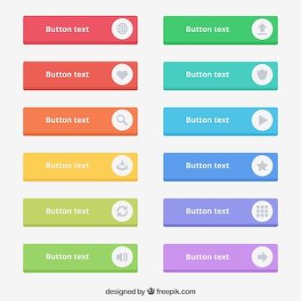 Botões de texto coloridos