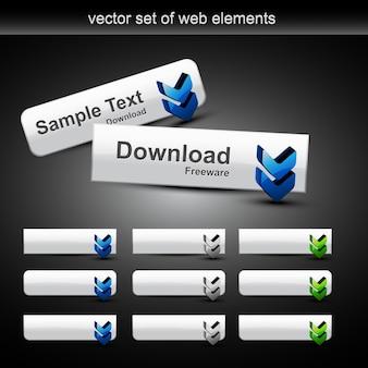 Botões elegantes do vetor da correia fotorreceptora com estilo diferente Scalable e podem ser usados para seus projetos