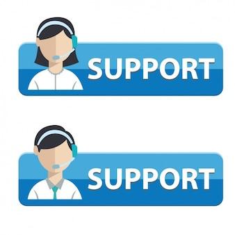 Botões para apoiar