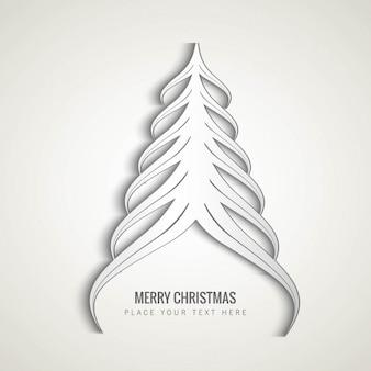 Branca Árvore de Natal abstrata