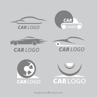 Branco e cinza coleção logotipo do carro
