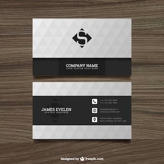 Branco e preto cartão de visita