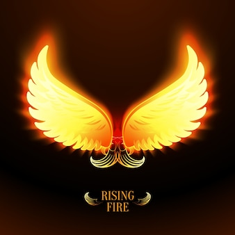 Bright bright fire angel wings ilustração vetorial